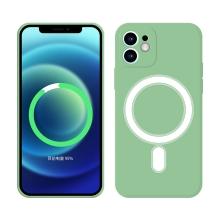 Kryt pro Apple iPhone 12 - Magsafe - silikonový - zelený