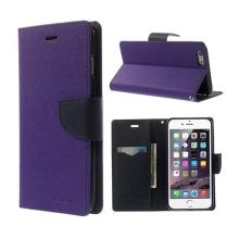 Pouzdro Mercury Goospery pro Apple iPhone 6 Plus / 6S Plus - stojánek a prostor pro platební karty - fialovo-modré