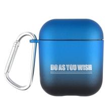 Pouzdro / obal pro Apple AirPods - barevný přechod - plastové - modré / černé