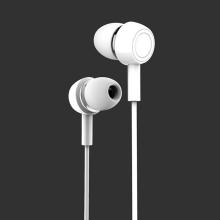 Sluchátka USAMS EP-12 pro Apple zařízení - ovládání + mikrofon - plastová - bílá