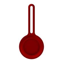 Kryt / obal pro Apple AirTag - barevné poutko - silikonový - červený