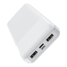 Externí baterie / power bank HOCO BJ72A - 20000 mAh - 2x USB + USB-C - bílá