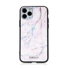 Kryt BABACO pro Apple iPhone 11 Pro - skleněný - růžový mramor