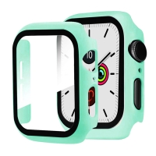Tvrzené sklo + rámeček pro Apple Watch 44mm Series 4 / 5 / 6 / SE - světle modrý