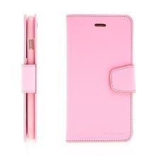 Pouzdro Mercury Sonata Diary pro Apple iPhone 6 Plus / 6S Plus - stojánek a prostor na osobní doklady - růžové