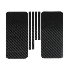 Ochranná dekorační celoobvodová vrstva pro Apple iPhone 5 - karbon - černá
