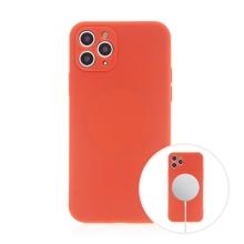 Kryt pro Apple iPhone 11 Pro - MagSafe magnety - silikonový - červený