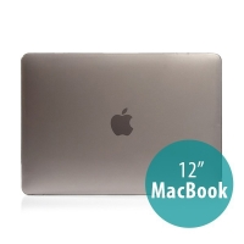 Tenký plastový obal / kryt pro Apple MacBook 12 Retina (rok 2015) - lesklý - šedý