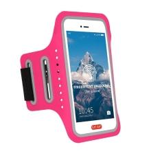 Sportovní pouzdro pro Apple iPhone včetně velikostí Plus a Max - reflexní prvky - růžové