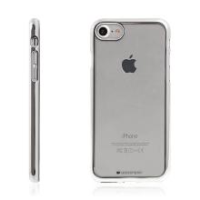 Kryt Mercury Ring 2 pro Apple iPhone 7 / 8 gumový - průhledný / stříbrný rámeček