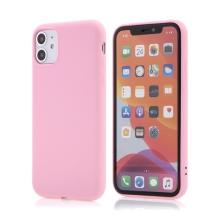 Kryt X-LEVEL pro Apple iPhone 11 - příjemný na dotek - silikonový - růžový