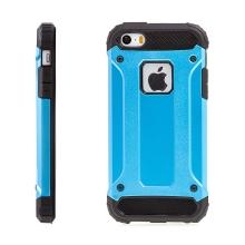 Kryt pro Apple iPhone 5 / 5S / SE - plasto-gumový / antiprachové záslepky - modrý