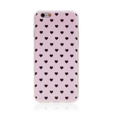 Kryt BABACO pro Apple iPhone 6 / 6S - gumový - srdíčka - růžový