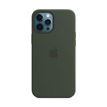 Originální kryt pro Apple iPhone 12 Pro Max - silikonový - kypersky zelený