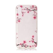 Kryt pro Apple iPhone X / Xs - gumový - kvetoucí sakury