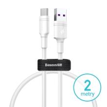 Synchronizační a nabíjecí kabel BASEUS USB-C - USB 3.0 - 2m - bílý