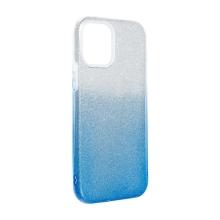 Kryt FORCELL Shining pro Apple iPhone 12 Pro Max - plastový / gumový - stříbrný / modrý