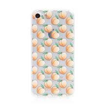 Kryt BABACO - pro Apple iPhone 7 / 8 / SE (2020) - gumový - průhledný - broskvičky