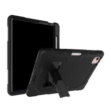 """Kryt / pouzdro pro Apple iPad Pro 11"""" (2018 /2020) / Air 4 - outdoor - odolný - stojánek - silikonový - černý"""