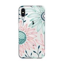 Kryt pro Apple iPhone X / Xs - gumový - kreslené květiny