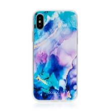 Kryt BABACO pro Apple iPhone Xs Max - gumový - mlhovina - růžový / modrý