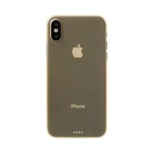 Kryt pro Apple iPhone X - ochrana čočky - ultratenký - plastový - zlatý