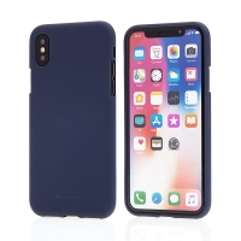 Kryt MERCURY Soft feeling pro Apple iPhone X / Xs - gumový - půlnočně modrý