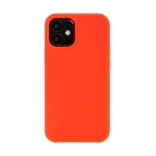Kryt pro Apple iPhone 12 mini - gumový - příjemný na dotek - červený