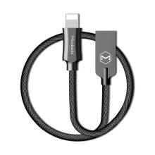 Synchronizační a nabíjecí kabel Lightning pro Apple zařízení MCDODO - tkanička - kovové koncovky - 1,2m - černý