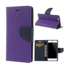 Pouzdro Mercury pro Apple iPhone 6 / 6S - stojánek a prostor pro platební karty - fialovo-modré