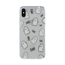 Kryt pro Apple iPhone X / Xs - gumový - průhledný - duchové