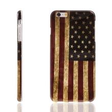 Gumový kryt pro Apple iPhone 6 Plus / 6S Plus - retro vlajka USA