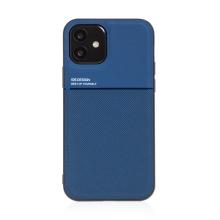 Kryt pro Apple iPhone 12 mini - vestavěný plíšek pro držáky - plastový / gumový - tmavě modrý