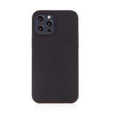 Kryt pro Apple iPhone 12 / 12 Pro - gumový - příjemný na dotek - černý