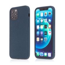 Kryt pro Apple iPhone 12 / 12 Pro - matný - protiskluzový - gumový - tmavě modrý