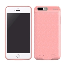 Externí baterie / kryt BASEUS pro Apple iPhone 7 Plus / 8 Plus - 7300 mAh - šrafovaná mozaika - růžová