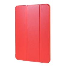 Pouzdro / kryt pro Apple iPad Air 4 (2020) - funkce chytrého uspání - umělá kůže - gumová záda - červené