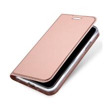 Pouzdro DUX DUCIS pro Apple iPhone X - stojánek + prostor pro platební kartu - Rose Gold