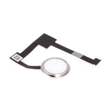 Obvod tlačítka Home Button + připojovací flex + tlačítko Home Button pro Apple iPad Air 2 / mini 4 / Pro 12,9 - bílé / stříbrné - kvalita A+
