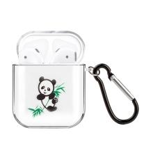 Pouzdro / obal pro Apple AirPods - gumové - panda s bambusem