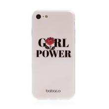 Kryt BABACO pro Apple iPhone 7 / 8 / SE (2020) - gumový - GIRL POWER
