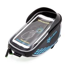 Sportovní pouzdro na kolo / koloběžku ROCKBROS - na představec pro Apple iPhone - černé / modré