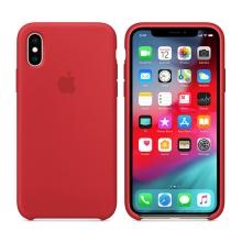 Originální kryt pro Apple iPhone Xs - silikonový - červený