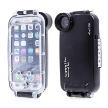 Pouzdro vodotěsné pro Apple iPhone 7 Plus / 8 Plus s odolností do 40m hloubky (IPX8) - průhledné / černé