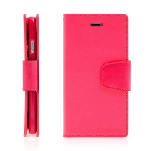 Pouzdro Mercury Sonata Diary pro Apple iPhone 7 / 8 - stojánek a prostor na doklady - růžové