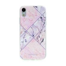 Kryt BABACO pro Apple iPhone Xr - gumový - růžový mramor