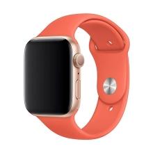 Originální řemínek pro Apple Watch 45mm / 44mm / 42mm - silikonový - mandarinkový
