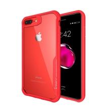 Kryt IPAKY pro Apple iPhone 7 Plus / 8 Plus - plastový / gumový - průhledný / červený