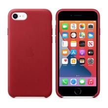 Originální kryt pro Apple iPhone 7 / 8 / SE (2020) - kožený - červený