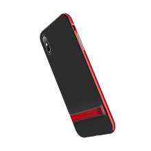 Kryt ROCK Royce pro Apple iPhone X / Xs - gumový / plastový - černý / červený